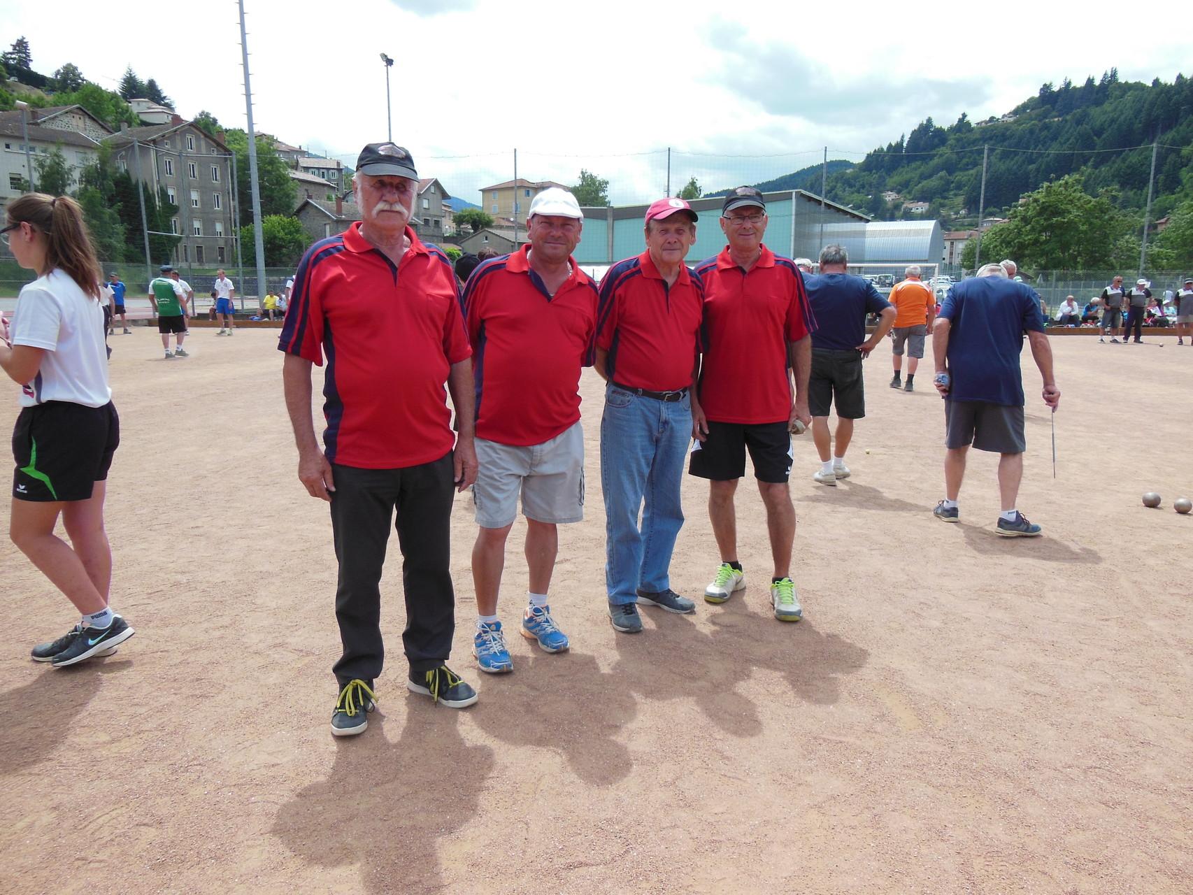 Equipe Faure Charmes Sous-championne de l'Ardèche