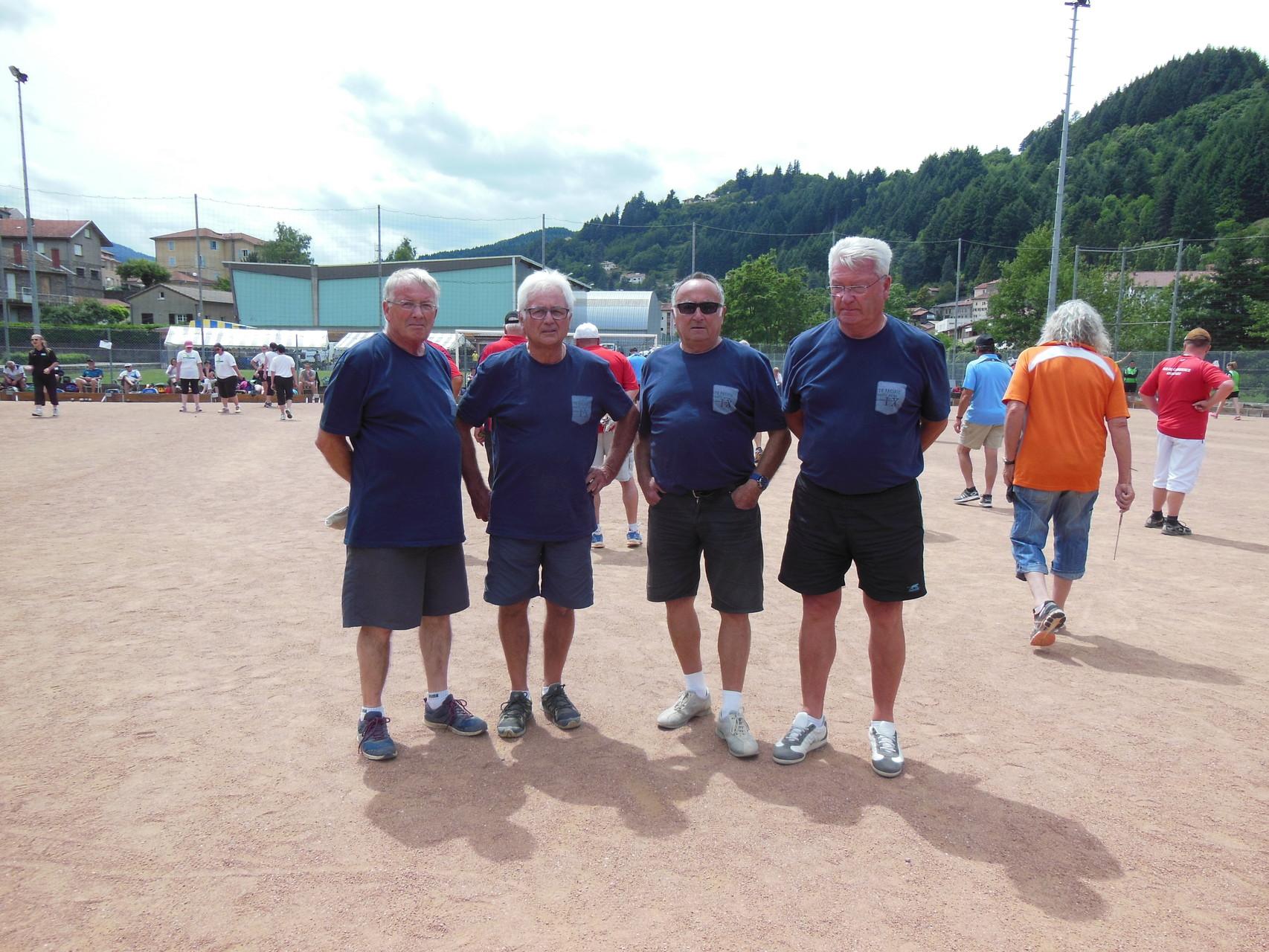 Equipe Malleval St Fortunat 3ème qualifiée