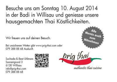 prig thai kocht am 10.8.2014 in der Badi Willisau