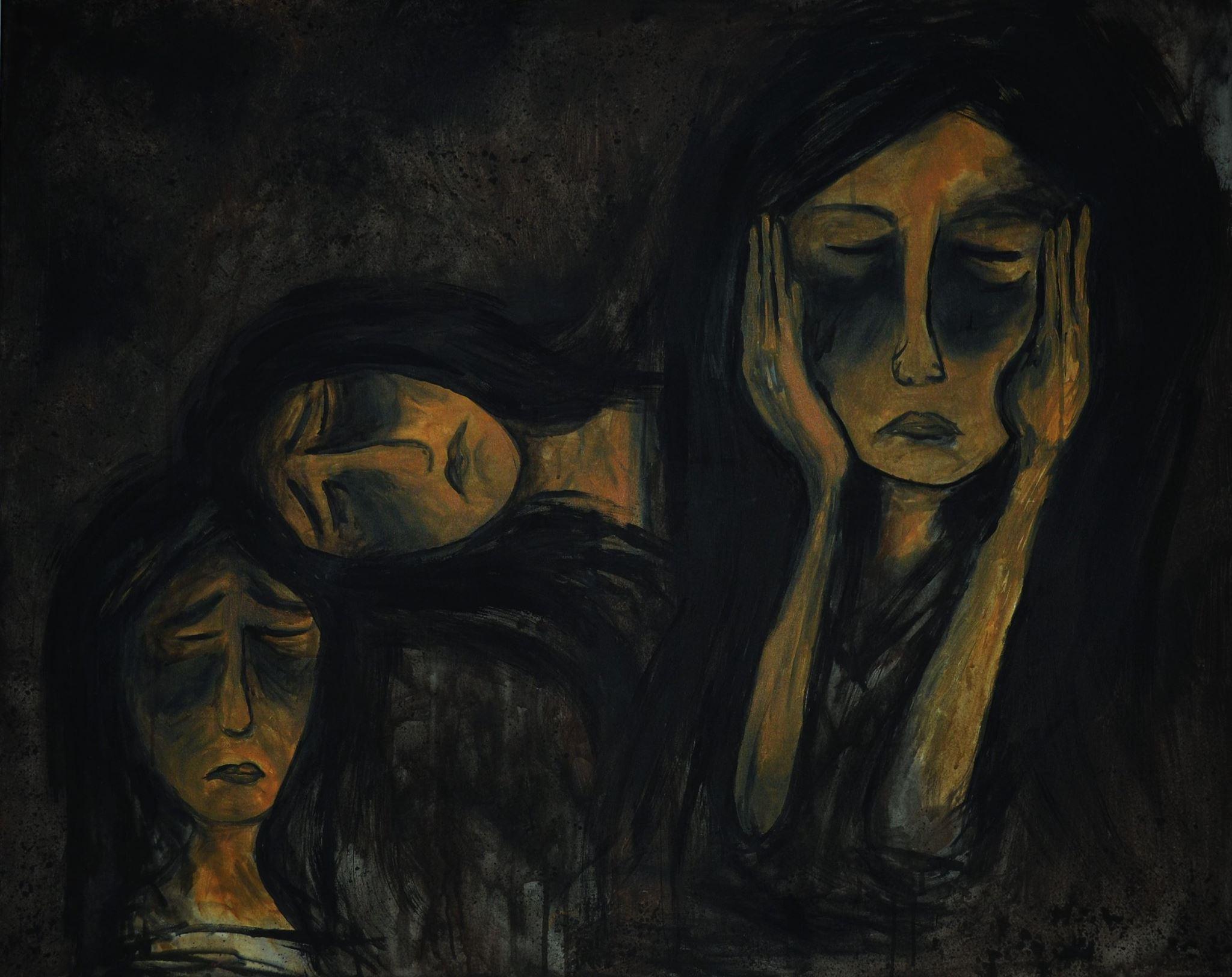 Gedankenwelt (2017). 100 x 80 cm.