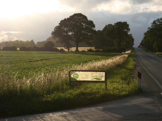 Von Münster kommend geht es links in die Bauernschaft Waltrup, von Altenberge aus rechts.