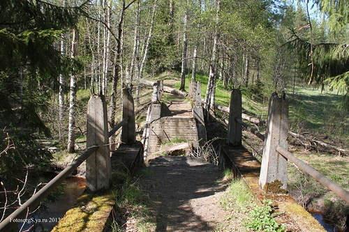 Мост плотины затопления на р. Перовка /Perojoki/