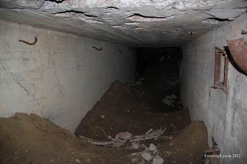 Уцелевшая часть финского подземного бункера