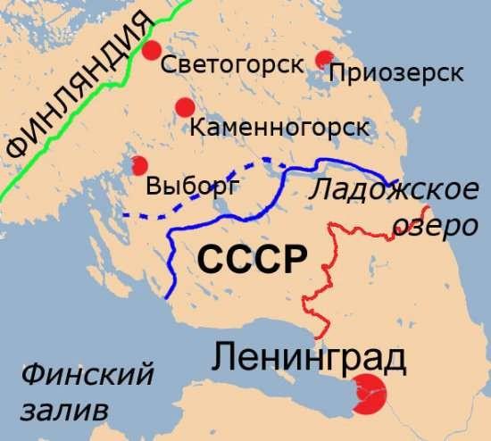 20-километровый участок пригранных финских территорий до начала советско-финляндского вооружённого конфликта 1939-1940 гг.