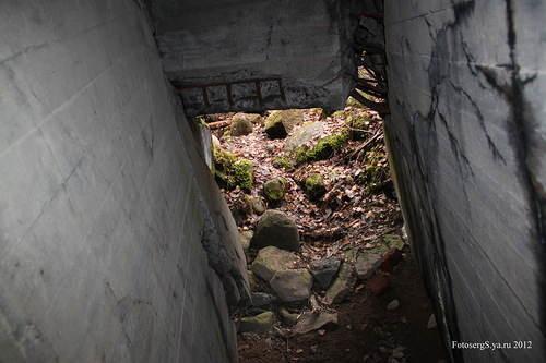 Выход из подземной галереи боевого каземата