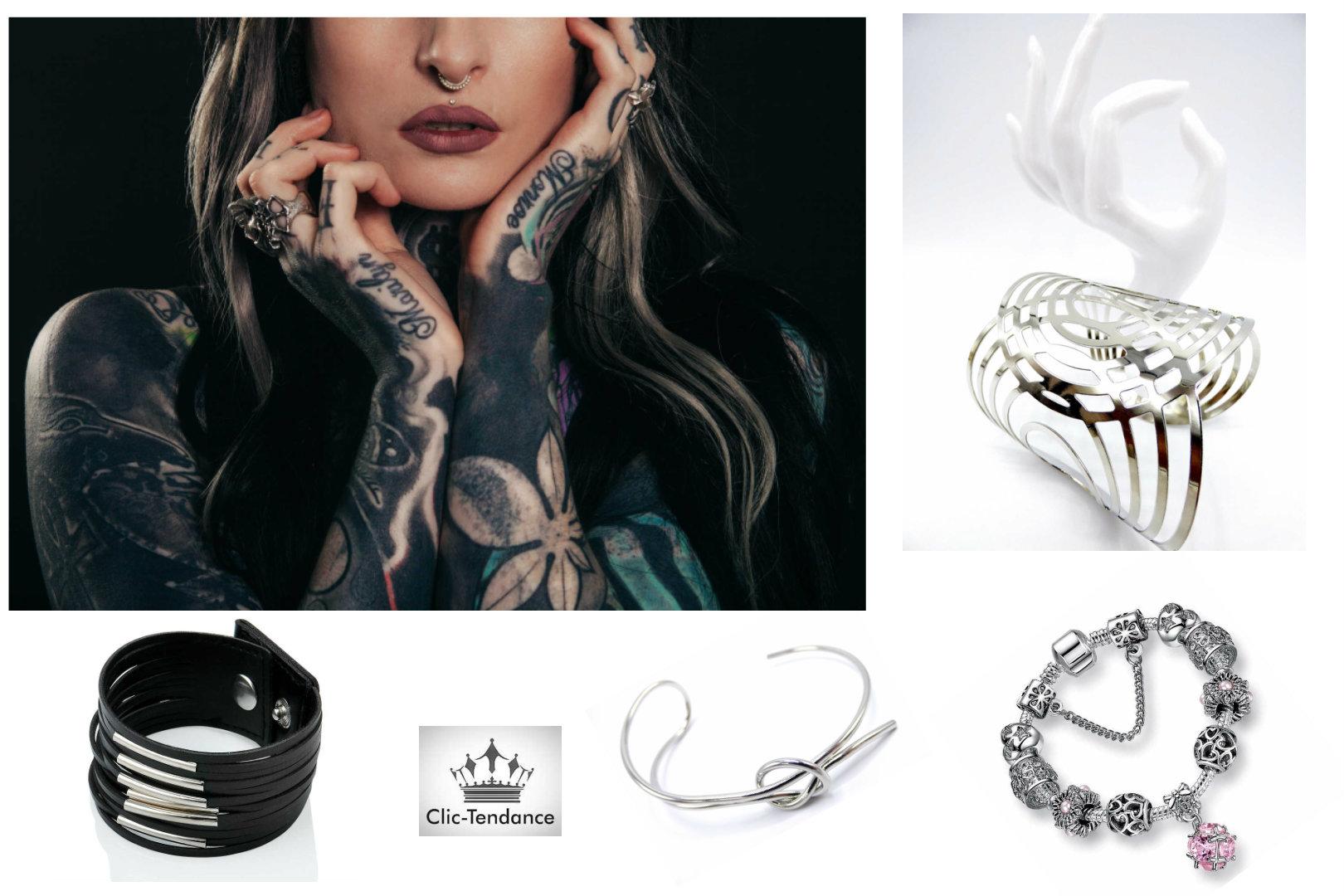 jonc, bracelet charms et manchette femme