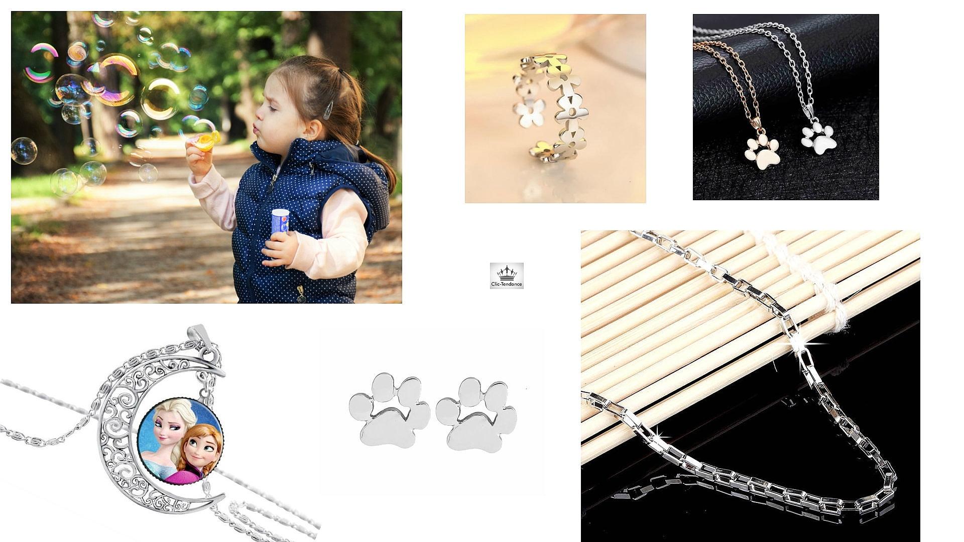 Idée cadeau enfant, bijoux en argent et fantaisie, et sac et accessoires de mode