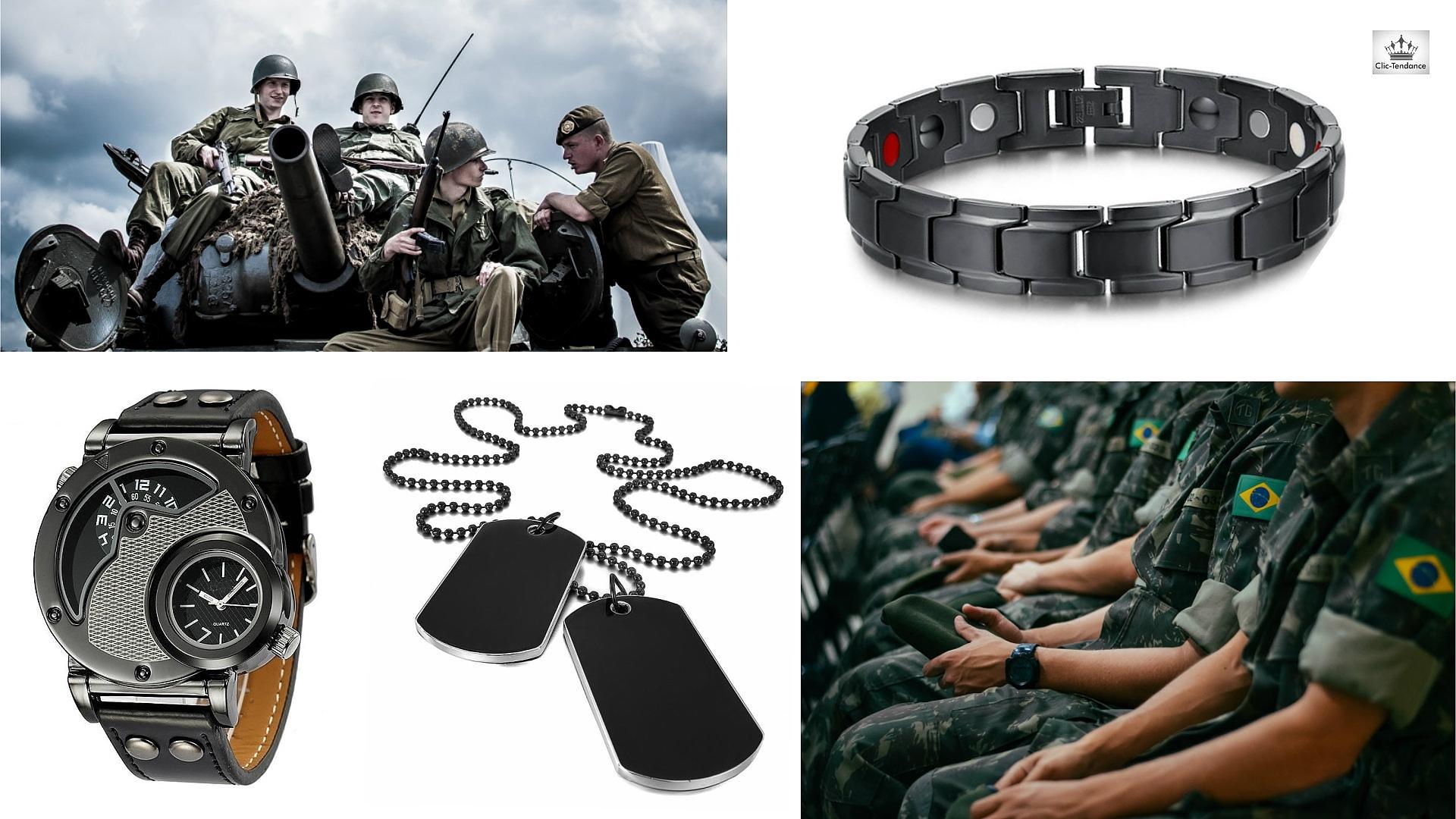 Accessoires de Style Militaire pour Mec