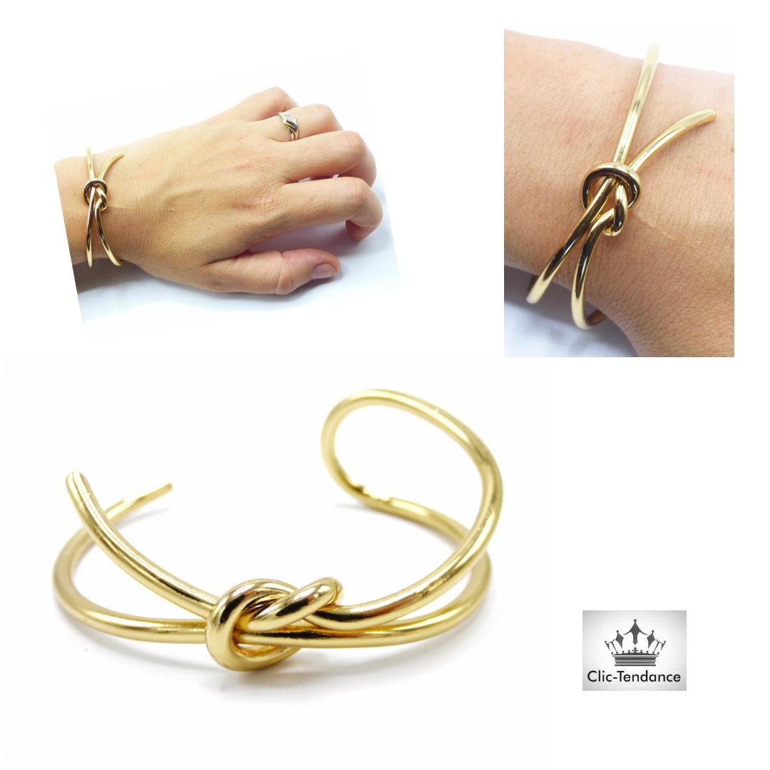 bracelet jonc flot or