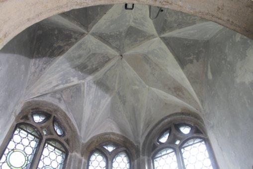 Freigelegtes Deckengewölbe, Schlosskapelle Heynitz 2014, Foto: Eike von Watzdorf