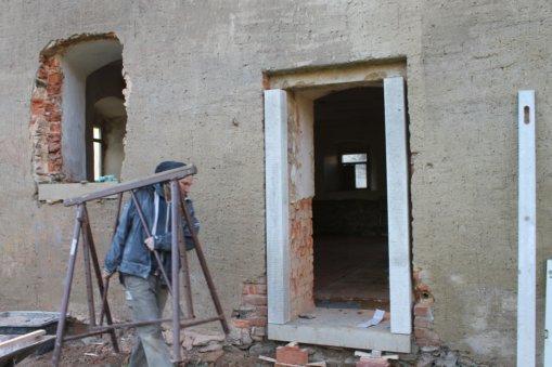Neue Sandsteingewände für die Kutscherstube 2017, Foto: Eike von Watzdorf