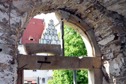 Sanierung Sandsteinportal Schlossremise Heynitz, Foto: Eike von Watzdorf, 2020