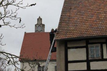Reparaturarbeiten am Dach