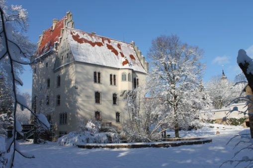 Schloss Heynitz, Winter 2019, Foto: Eike von Watzdorf
