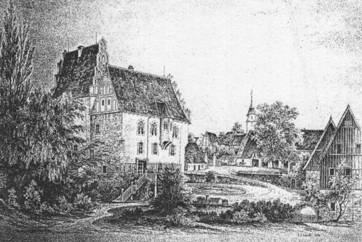 Rittergut Heynitz 1862, Zeichnung