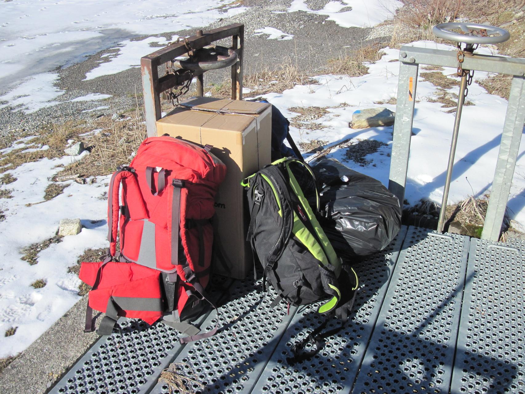 Unser Gepäck ist bereit zum Ablug