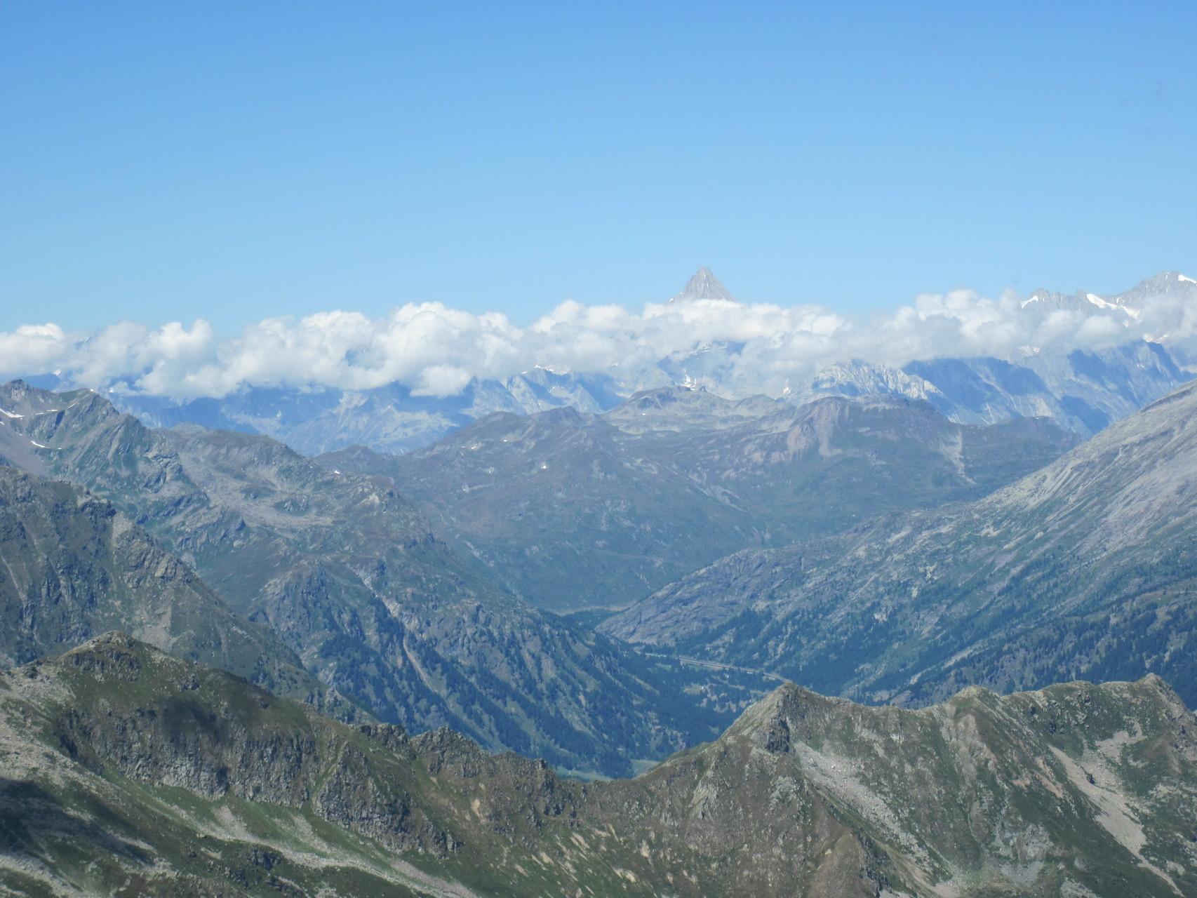 Ausblick vom Straciugo zur Simplonregion und zum Bietschhorn