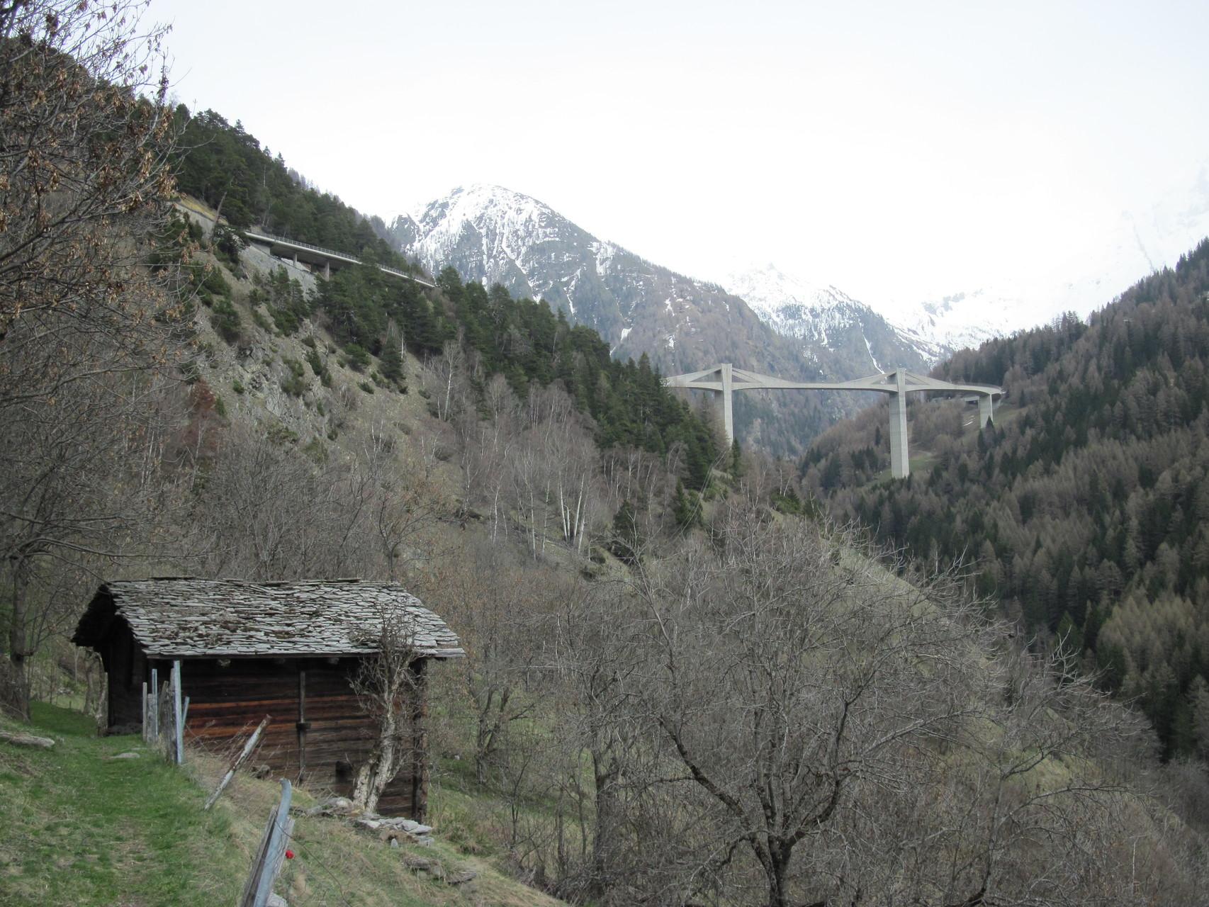 Blick zurück zur Ganterbrücke