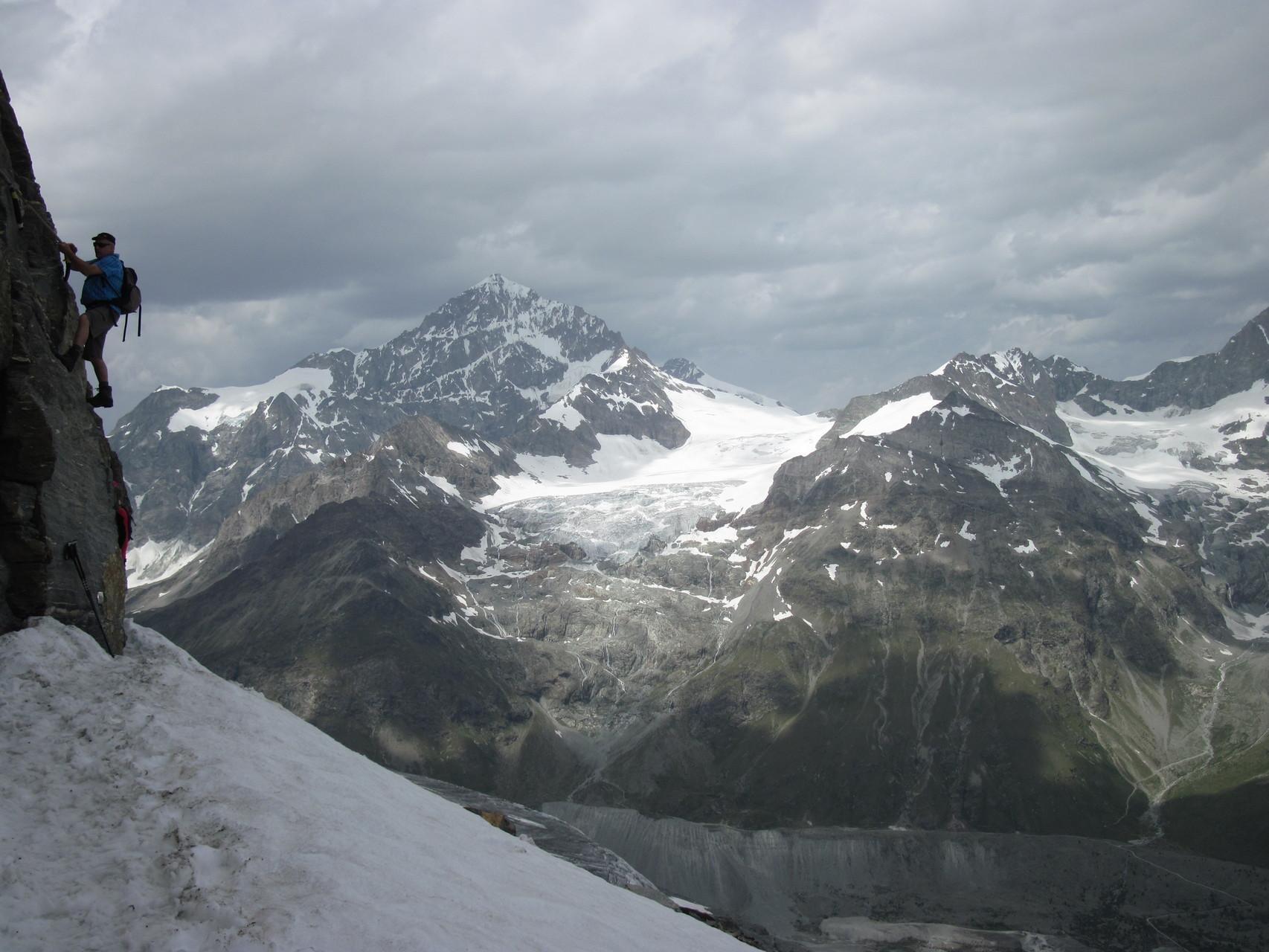 Gewitter über dem Monte Rosa Gebiet