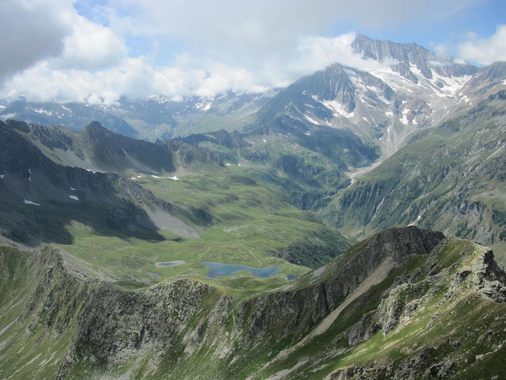 Blick zum Passo di Pontimia und Pontimiasee