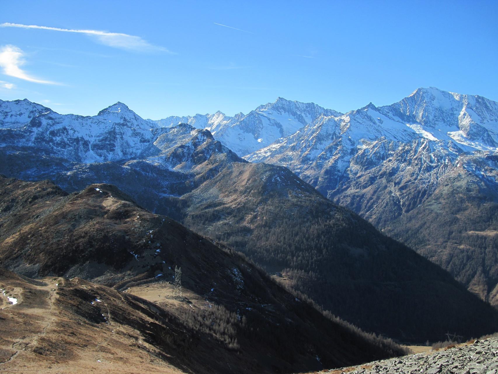 Ausblick Richtung Zwischbergental und Region