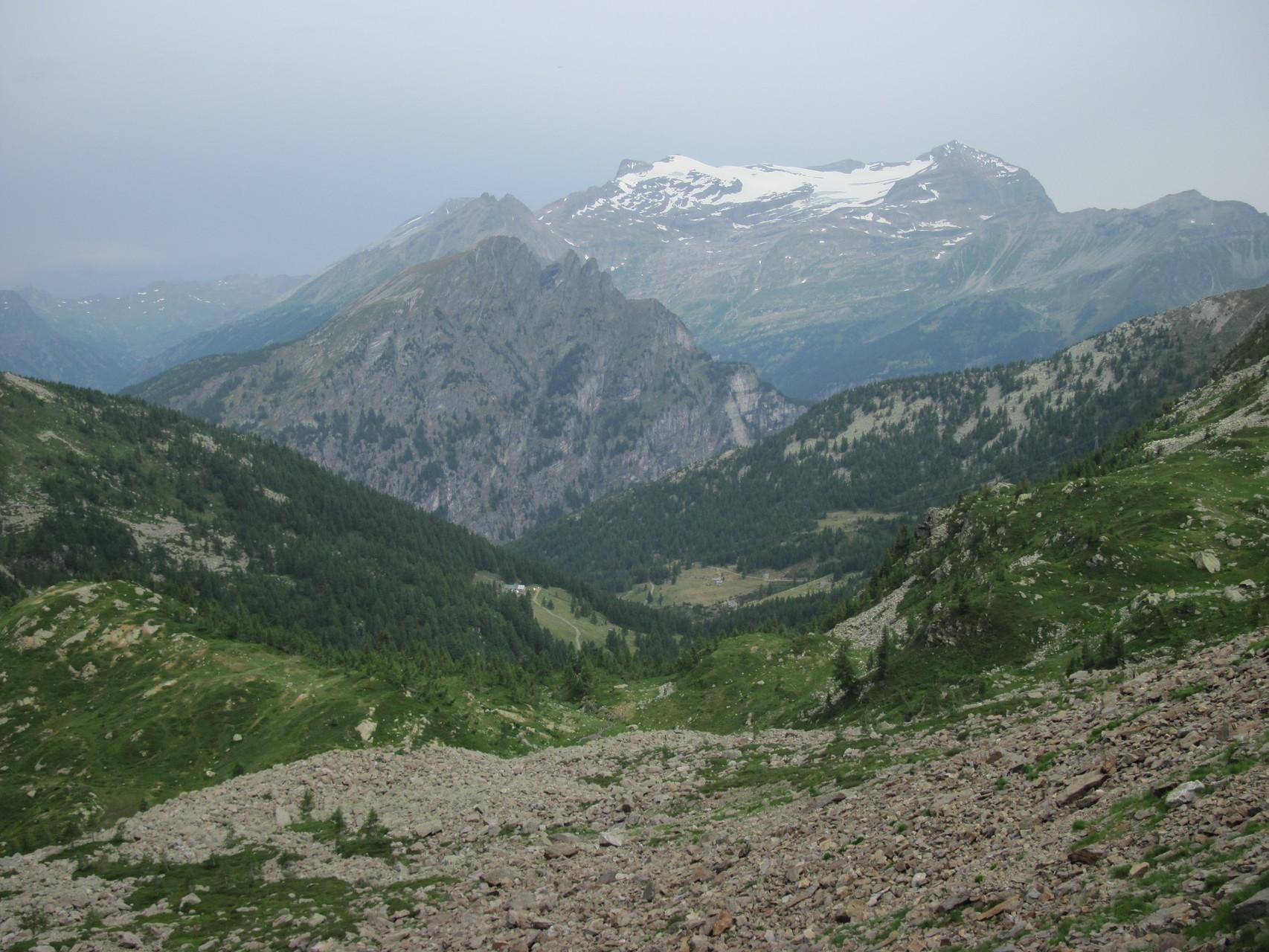 Ausblick in die Simplonregion mit Monte Leone
