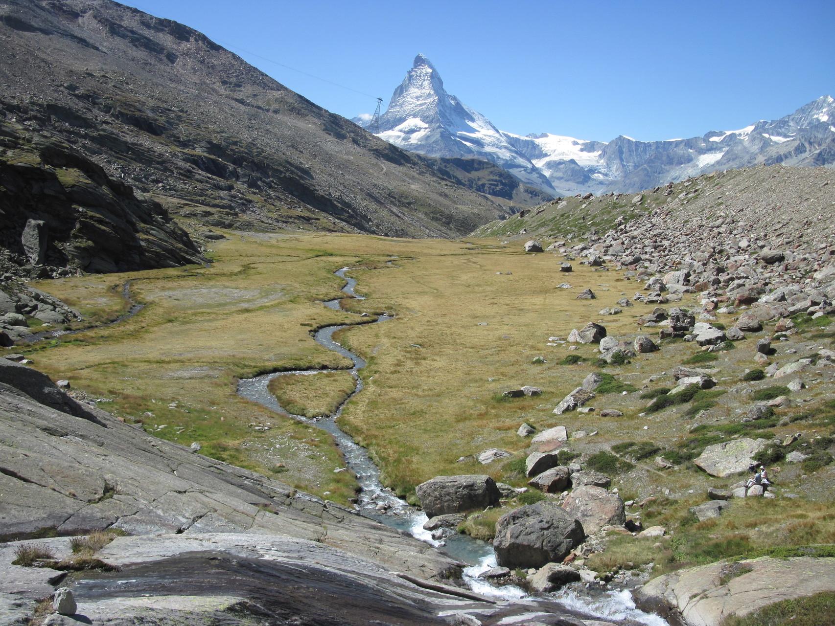 Blick vom verlorenen Tal zum Matterhorn