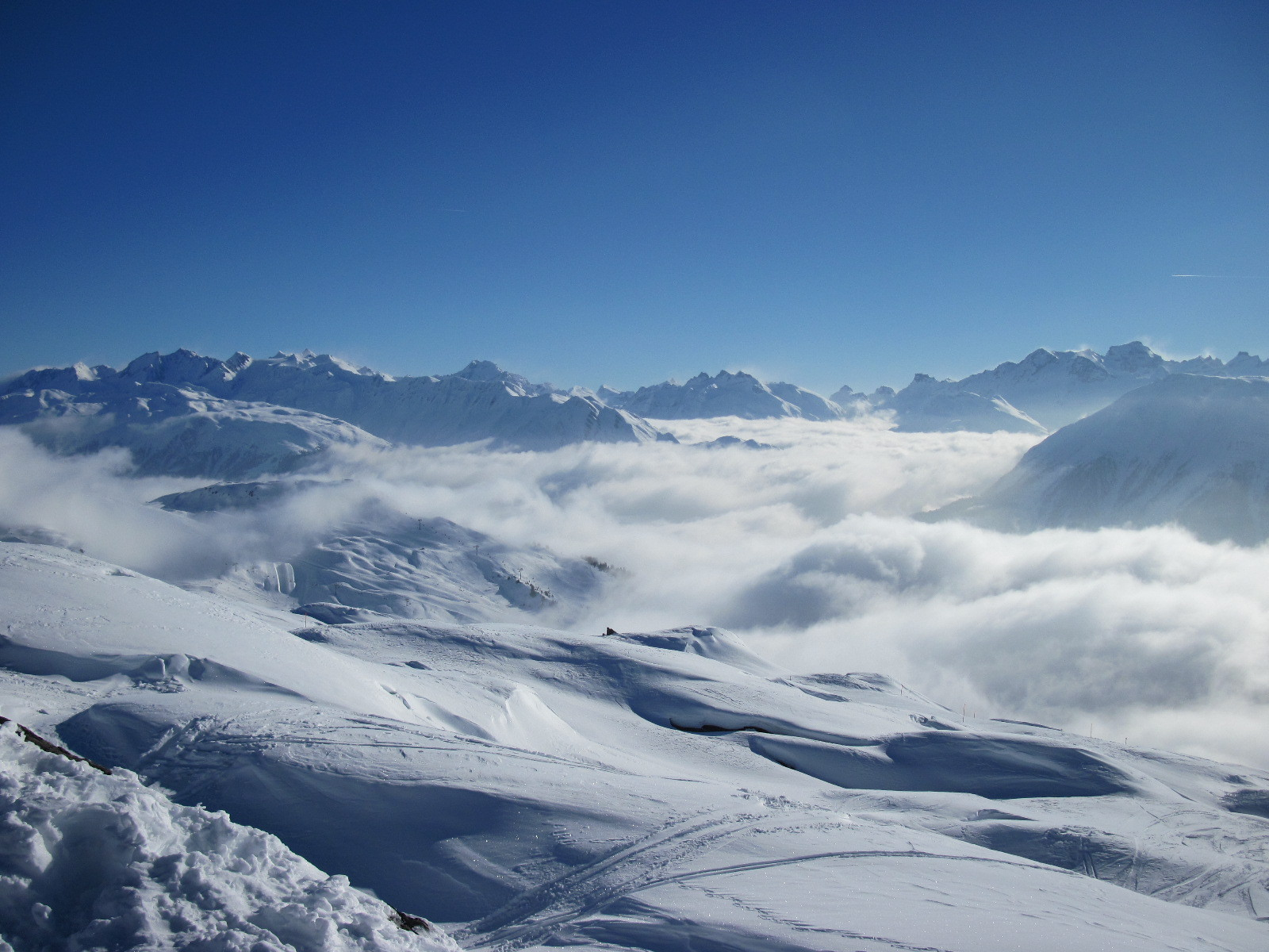 Nebelmeer über dem Oberwallis