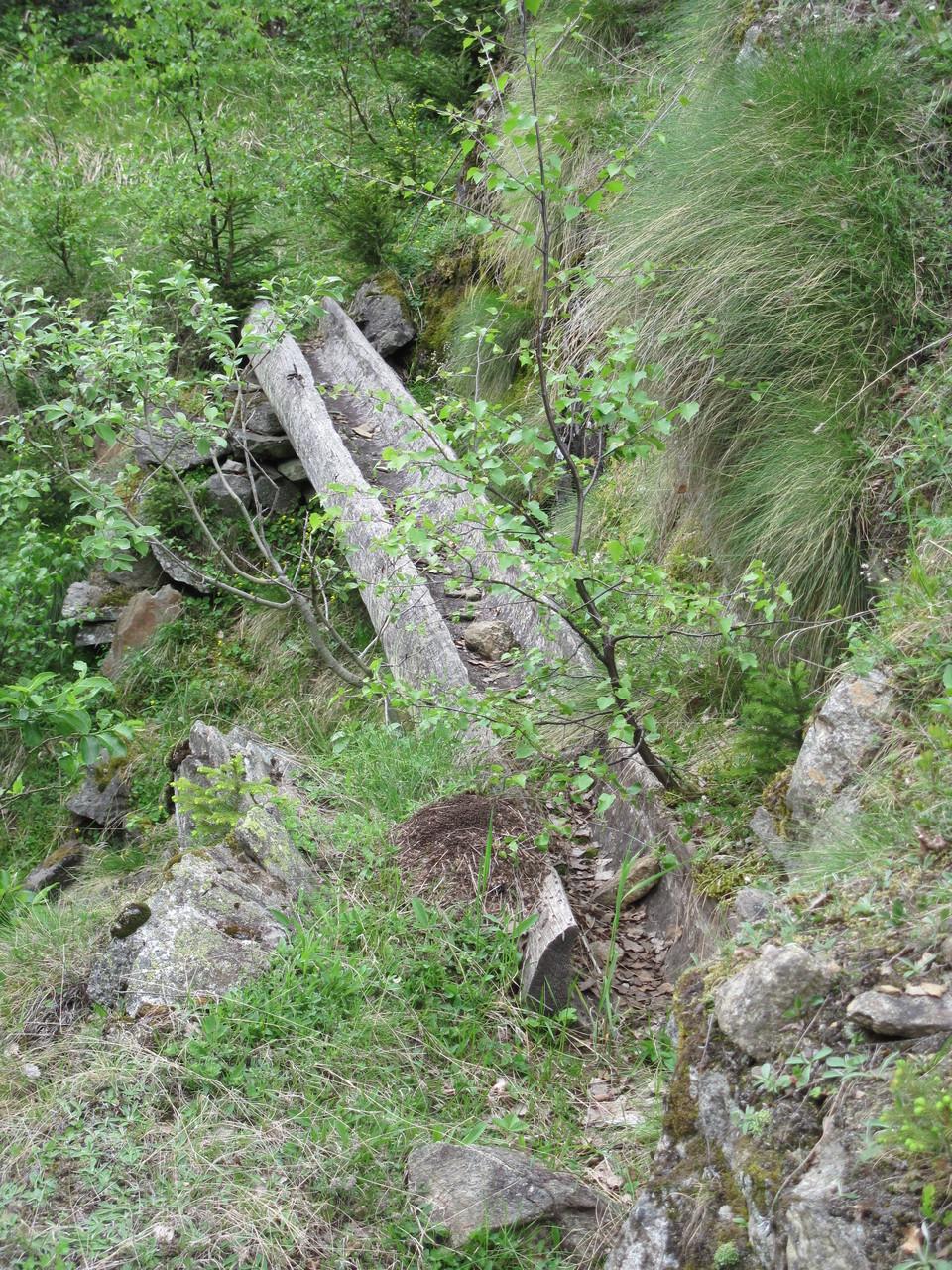 Überbleibsel einer alten Wasserleitung, Suone
