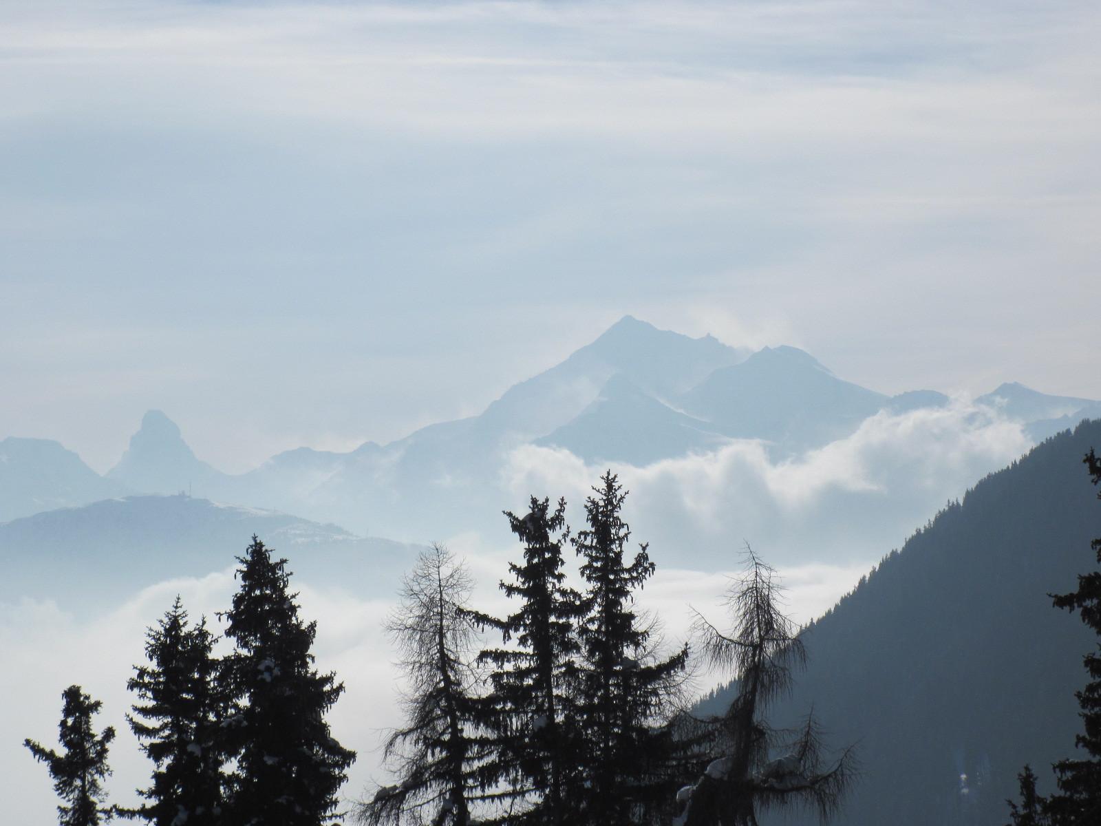 Matterhorn, Weisshorn, Brunegghorn und Bishorn