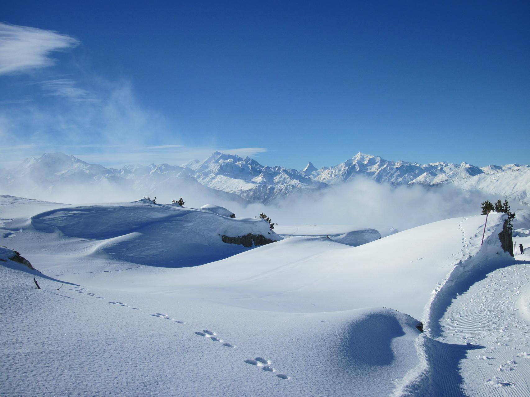 Ausblick auf die Walliser Bergwelt