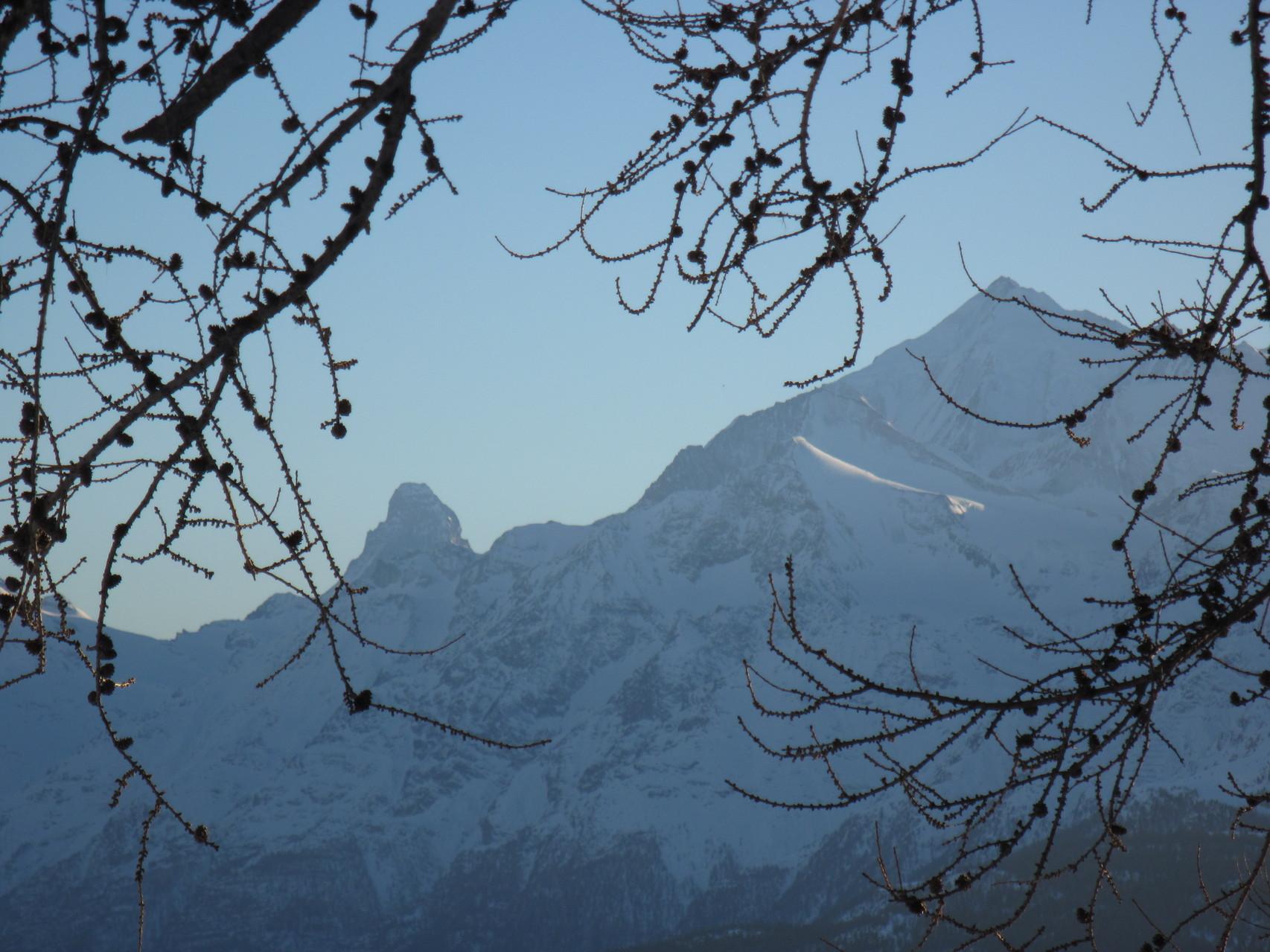 Matterhorn und Weisshorn