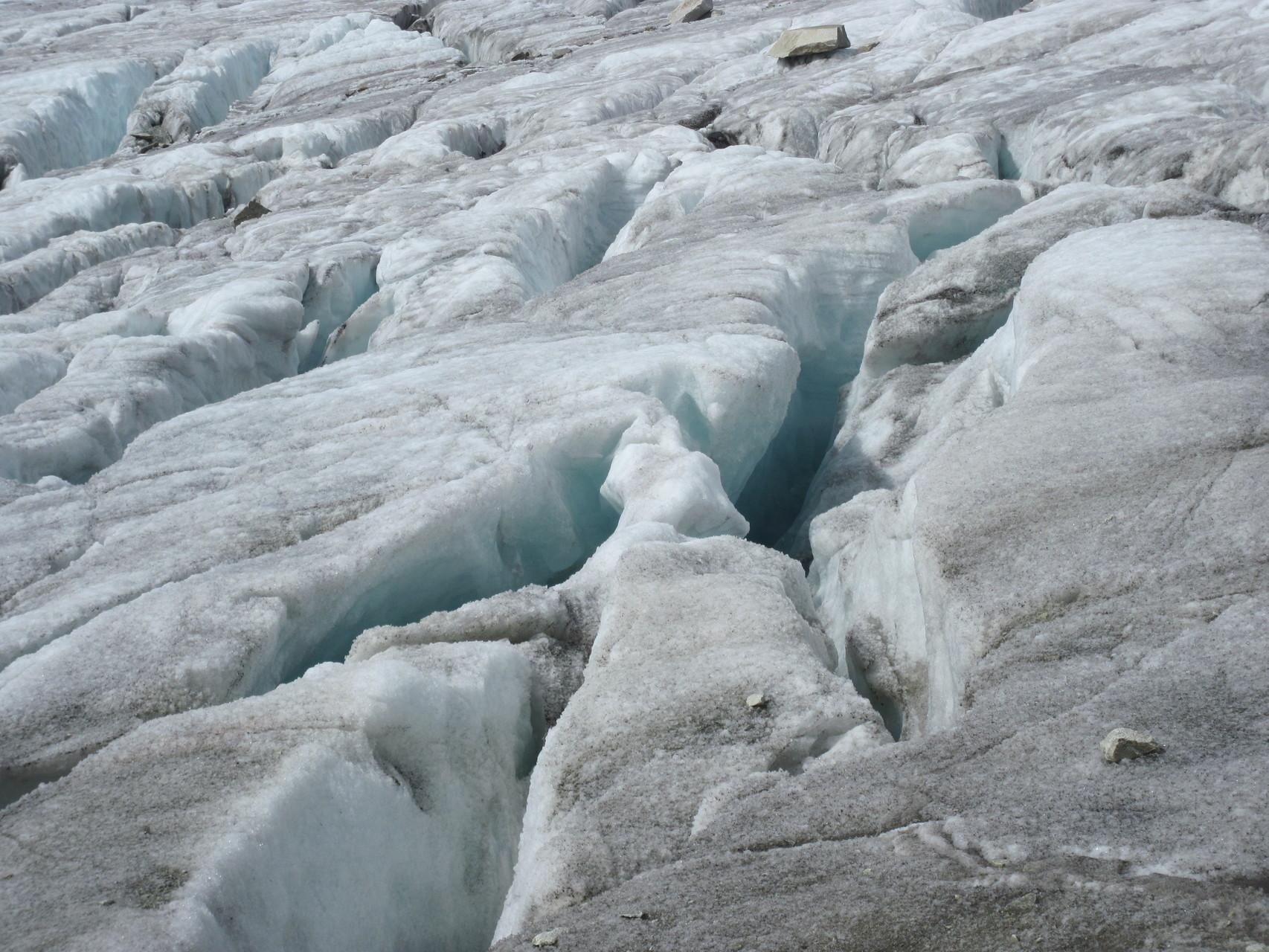 Gletscherspalten vom Baltschiedergletscher