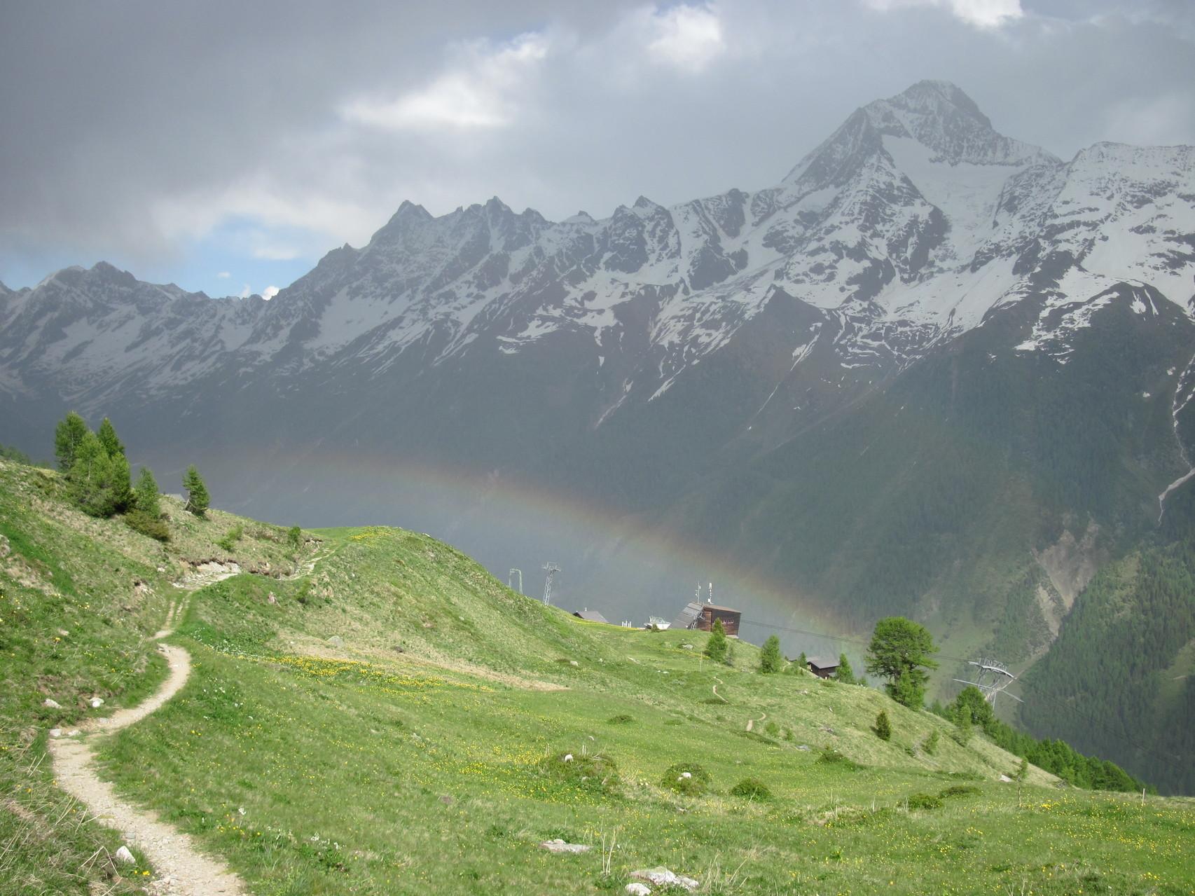 Regenbogen über Lauchernalp