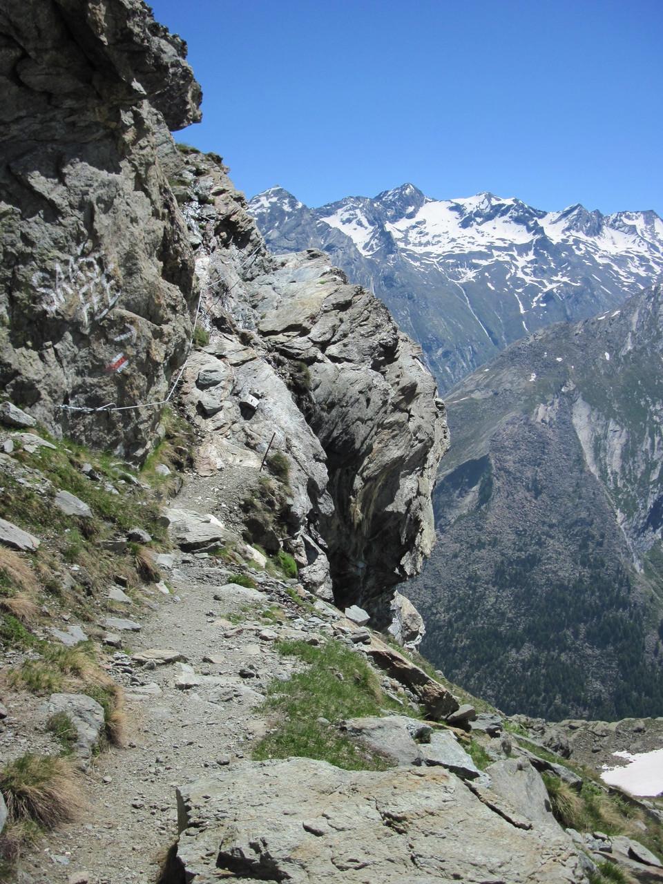 Weg zwischen Plattjen und Britanniahütte