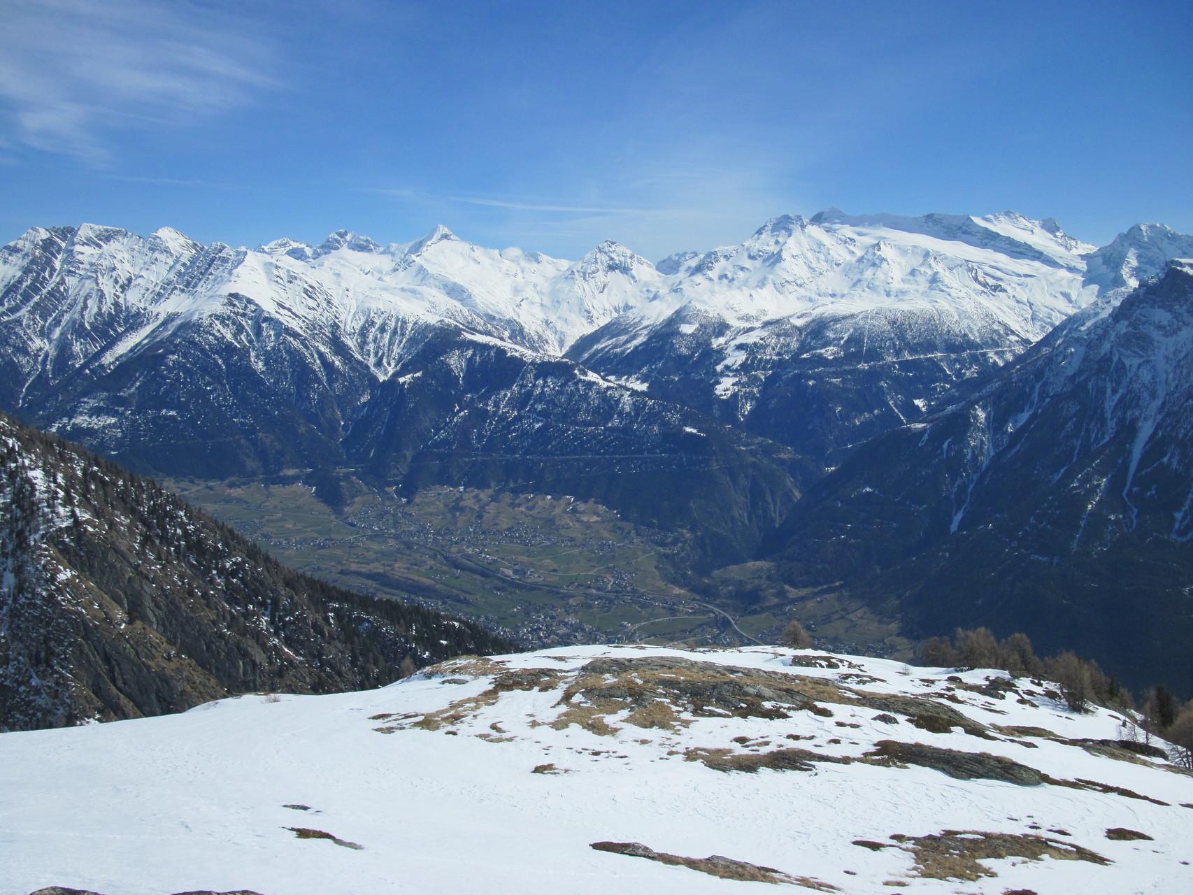 Aussicht auf Brig, Breigerberg und die Simplonregion