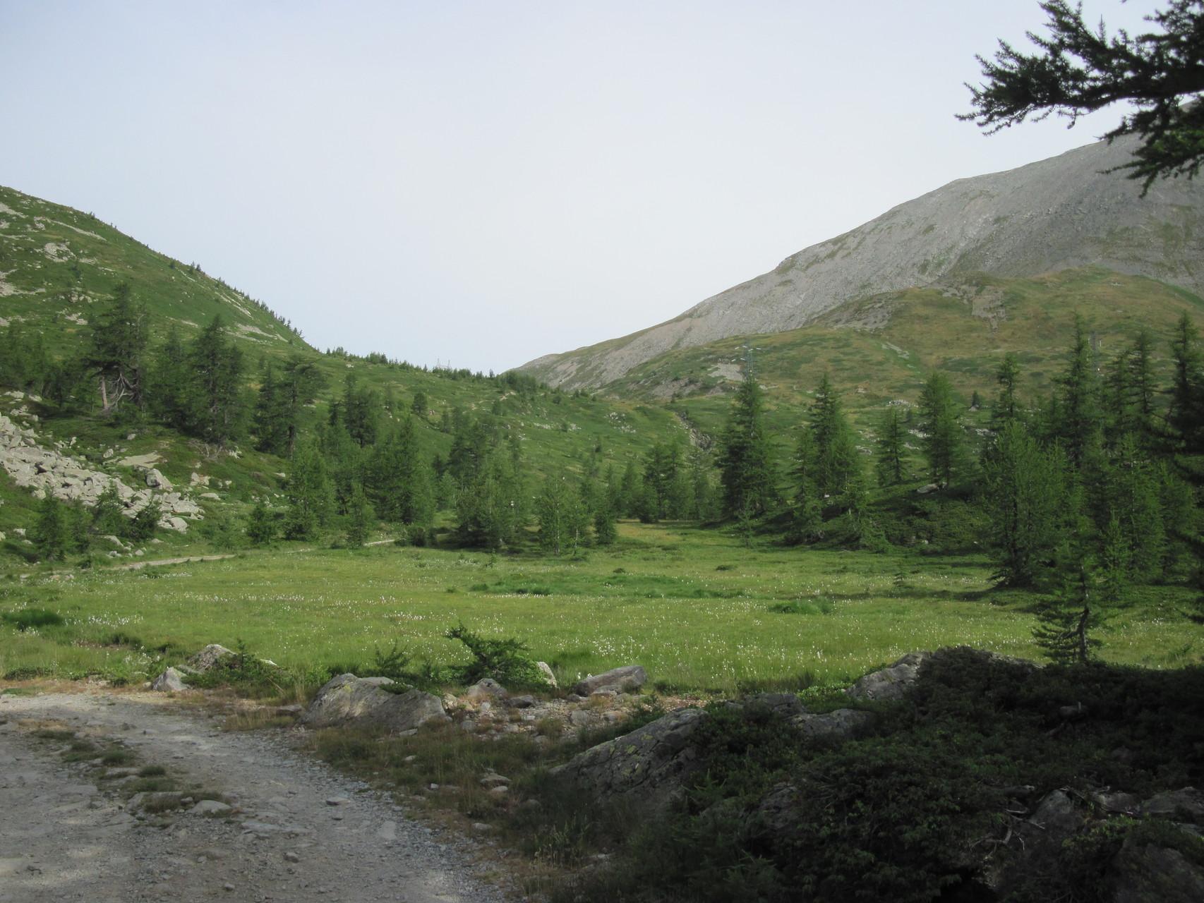 Blick zurück zum Passo di Monscera