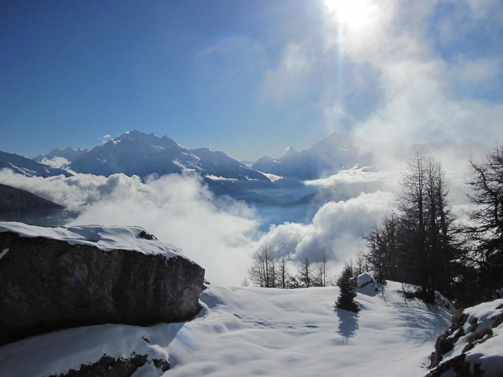 Mischabelgruppe, Matterhorn, Weisshorn