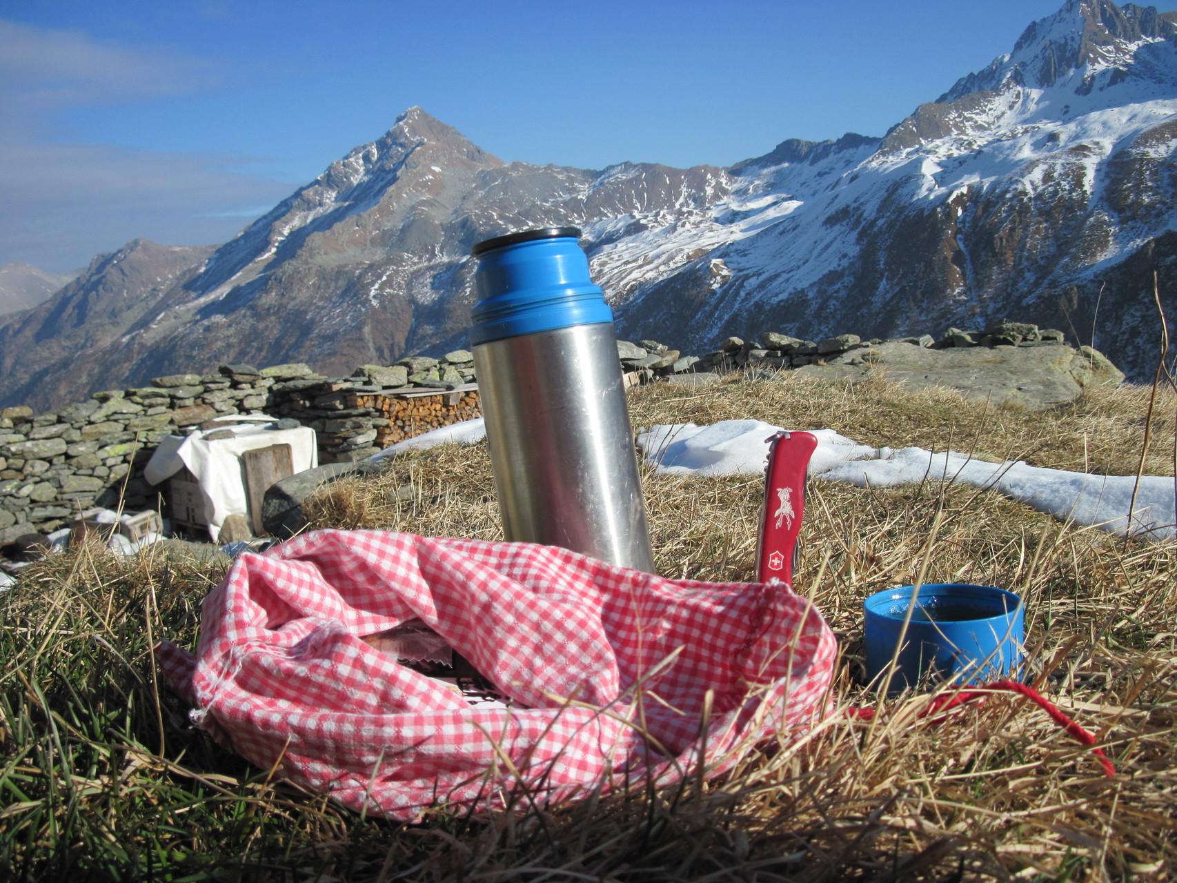 Picknick am 5.12.15 auf 2160m...!