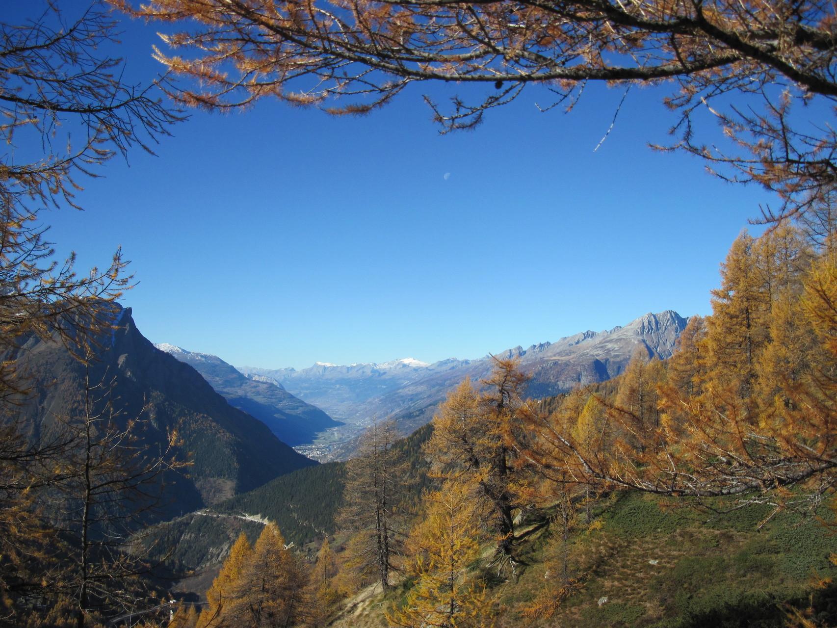Ausblick über das Rhonetal