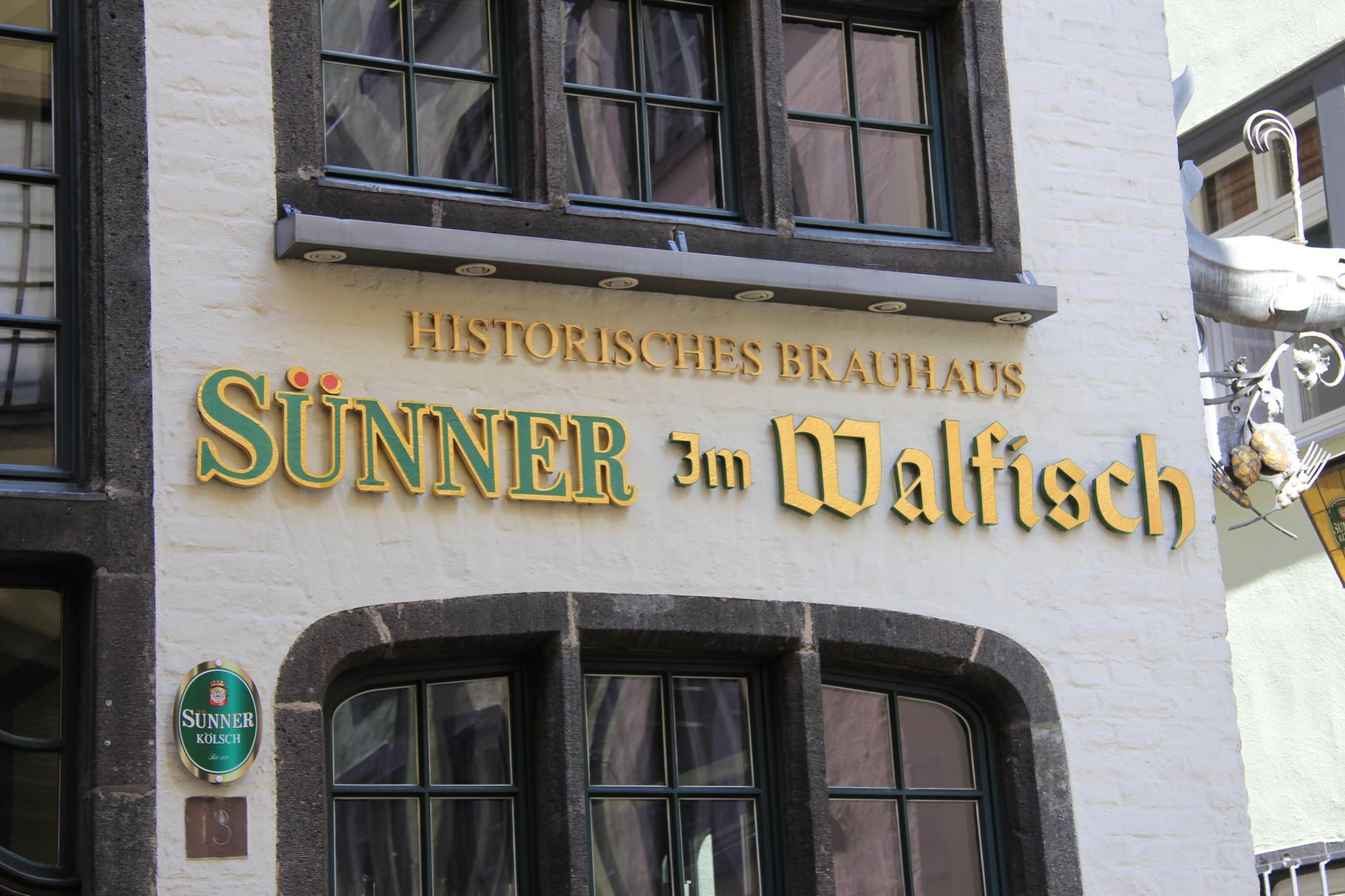 Brauhaustouren - Brauhaus Sünner im Walfisch, Salzgasse (nahe Heumarkt)