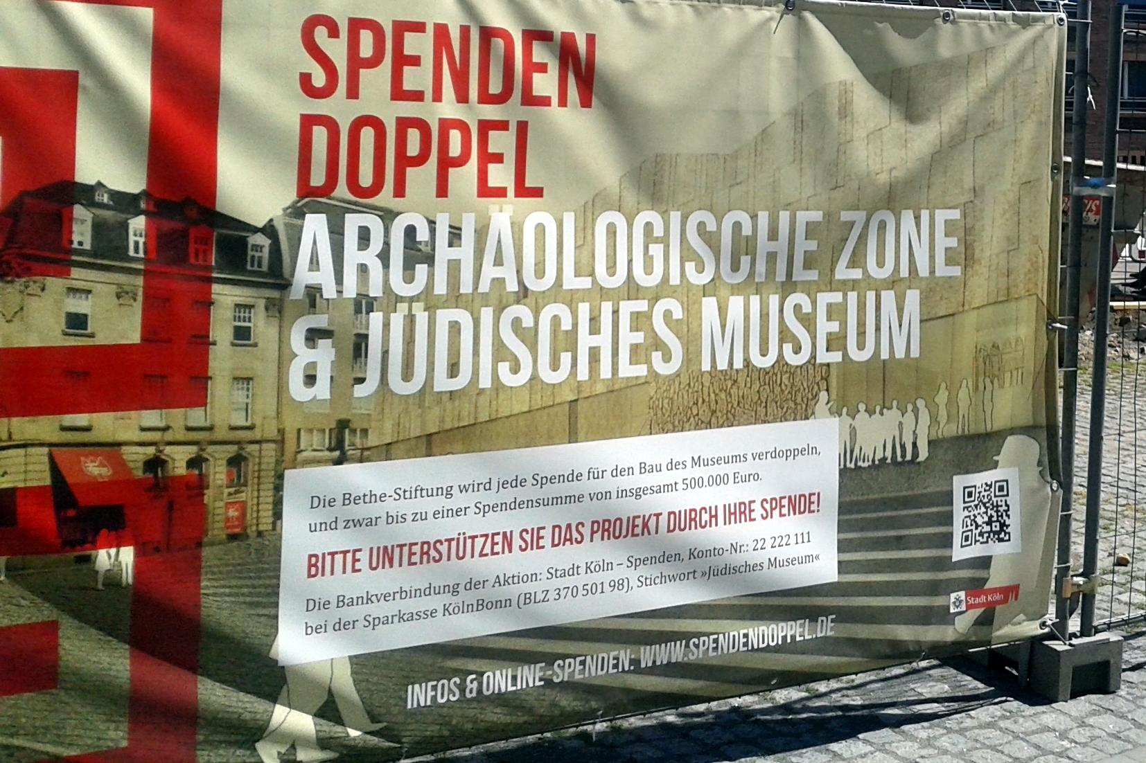 """Kölsch & Römer - Baustelle der Archäologischen Zone und des Jüdischen Museums """"MiQua"""" (Eröffnung: Mitte 2021 - Stand: Nov. 2017)"""