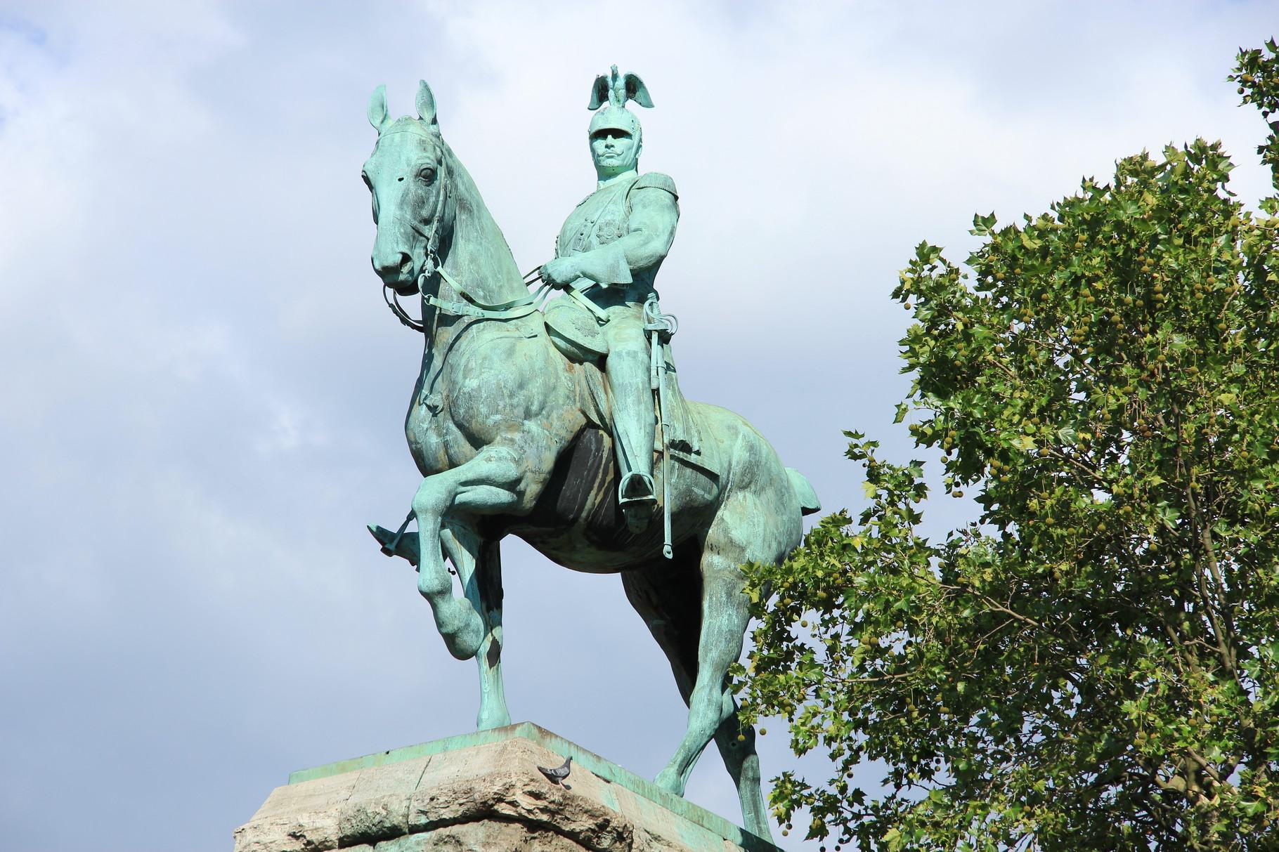 Preußen-Tour - Reiterstandbild Kaiser Wilhelm II. von vorn  (1911)