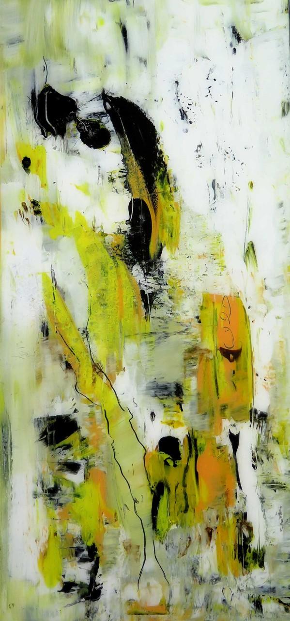 o.T. 18, Acrylmalerei hinter Glas