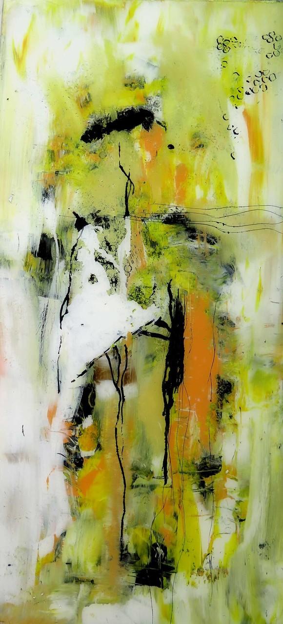 o.T. 19, Acrylmalerei hinter Glas