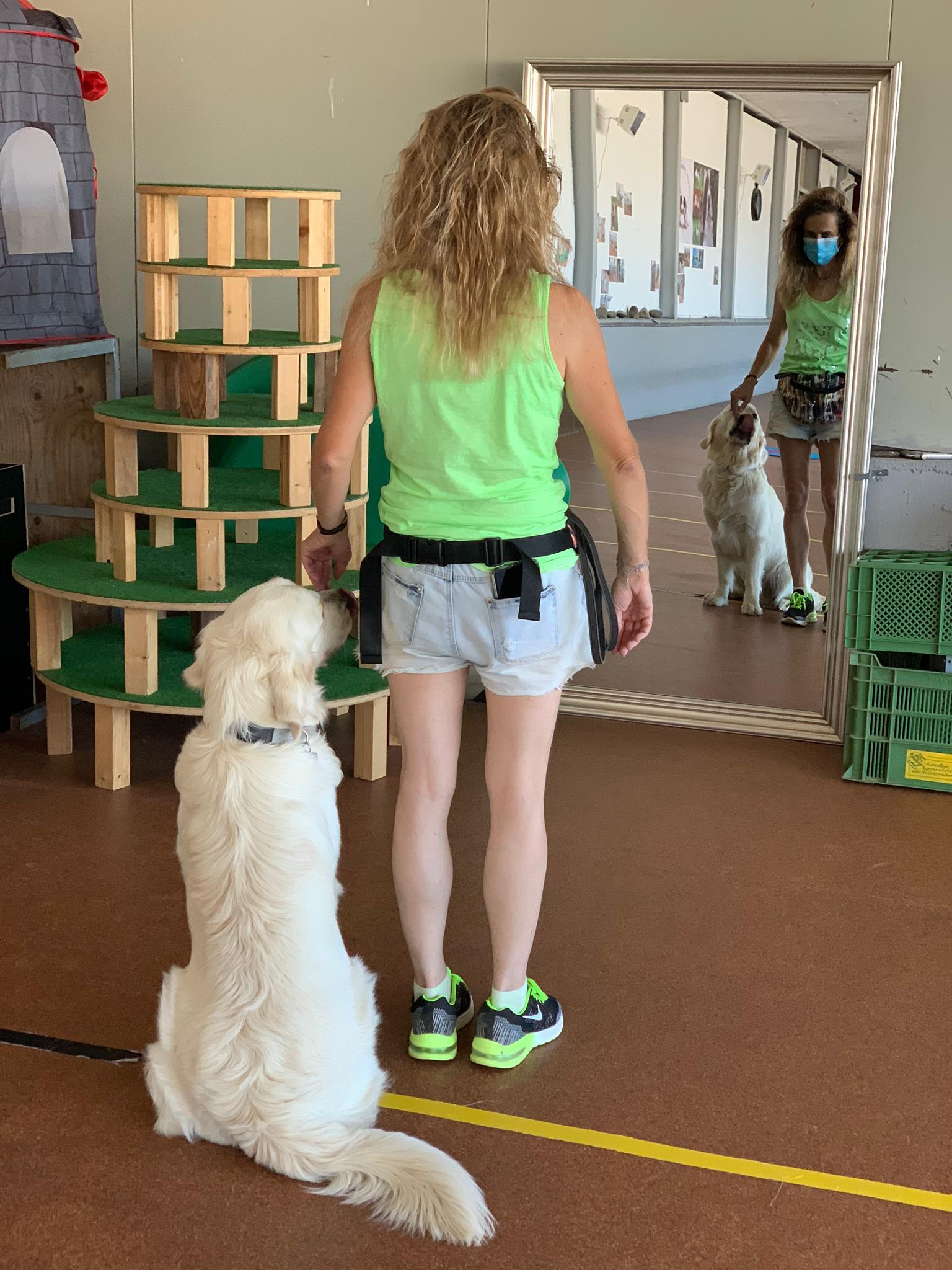 Training vor dem Spiegel