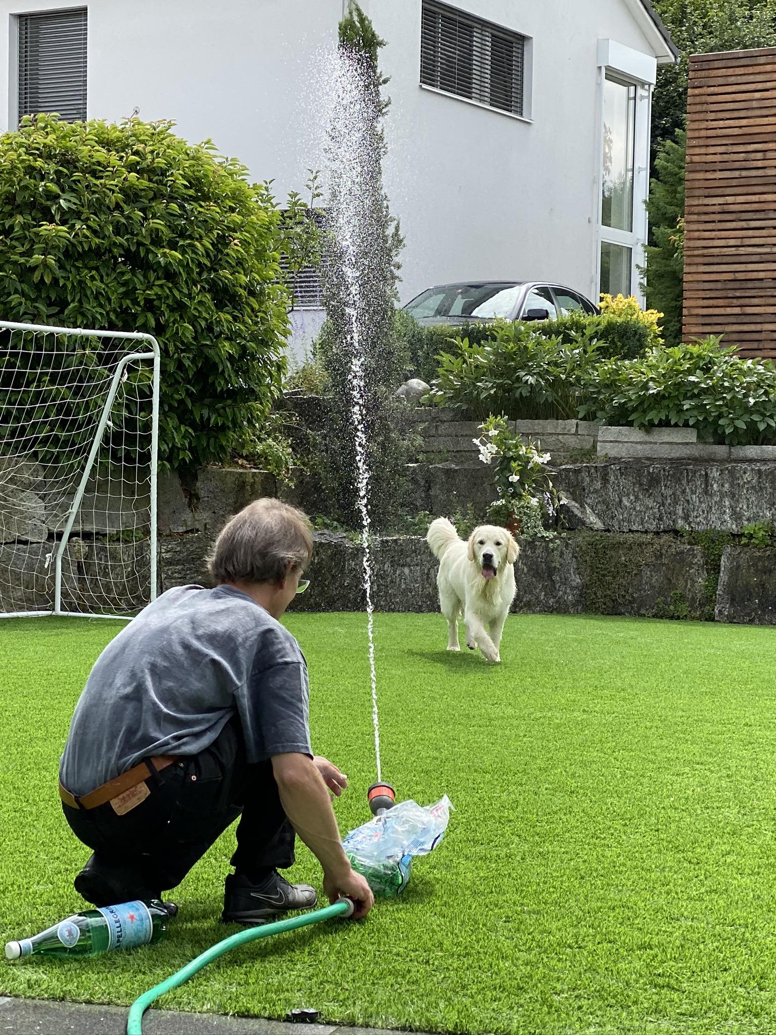 Wasserparty bei uns zu Hause - ich liiiiebe das!!!