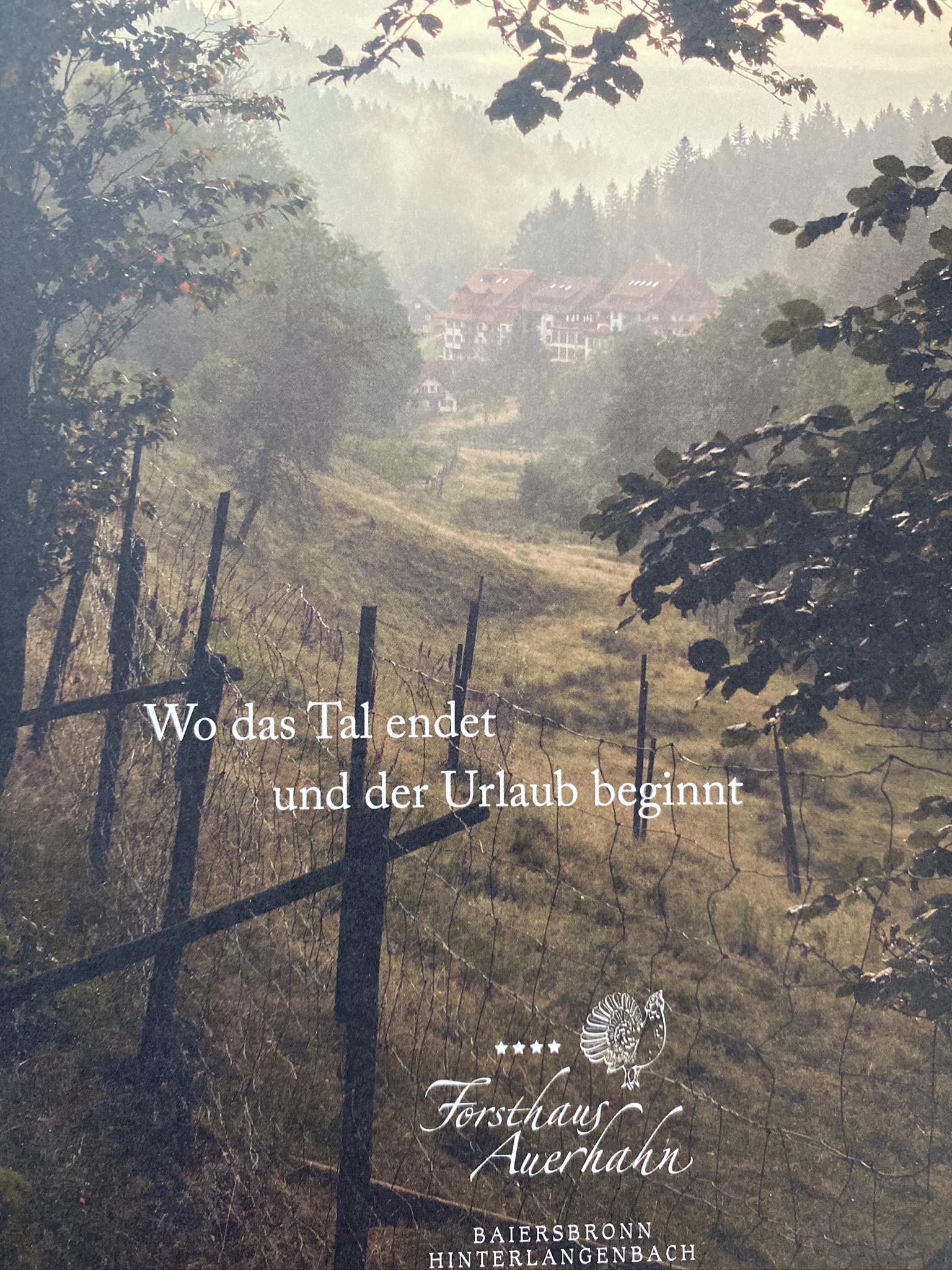 Hotelkatalog aus dem Nordscharzwald, Hinterlangenbach...