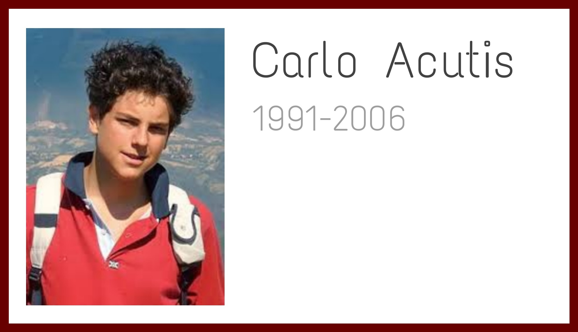 """""""Influencer Gottes""""- wer war eigentlich Carlo Acutis?"""
