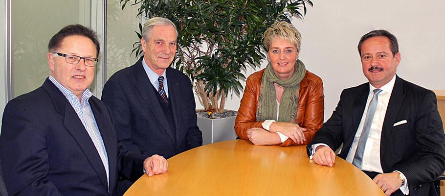 Dr. Ulrich Rietdorf, Dr. Gunter Blankenhorn, Anke Steck und Frieder Reichert